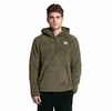 The North Face Mens Campshire Pullover Hoodie Burnt Olive Green/ New Taupe Green