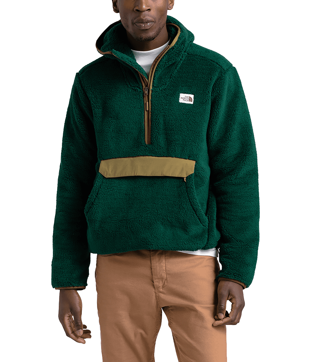 The North Face Mens Campshire Pullover Hoodie Night GreenBritish Khaki (Close Out)