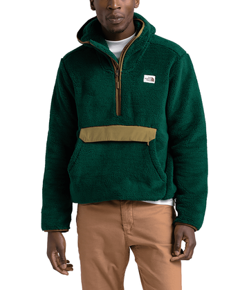 The North Face Mens Campshire Pullover Hoodie Night Green/British Khaki (Close Out)