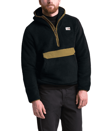 The North Face Mens Campshire Pullover Hoodie TNF Black/British Khaki (Close Out)
