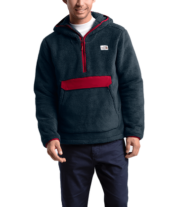 The North Face Mens Campshire Pullover Hoodie Urban Navy/Cardinal Red (Close Out)