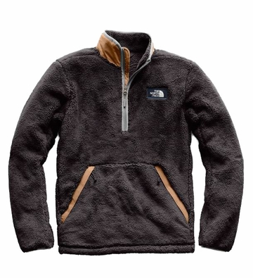 The North Face Mens Campshire Pullover Weathered Black/ Cargo Khaki   (close out)