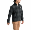 The North Face Mens Gordon Lyons Novelty 1/4 Zip Asphalt Grey Ombre Plaid Small Print