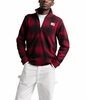 The North Face Mens Gordon Lyons Novelty 1/4 Zip Cardinal Red Ombre Plaid Small Print