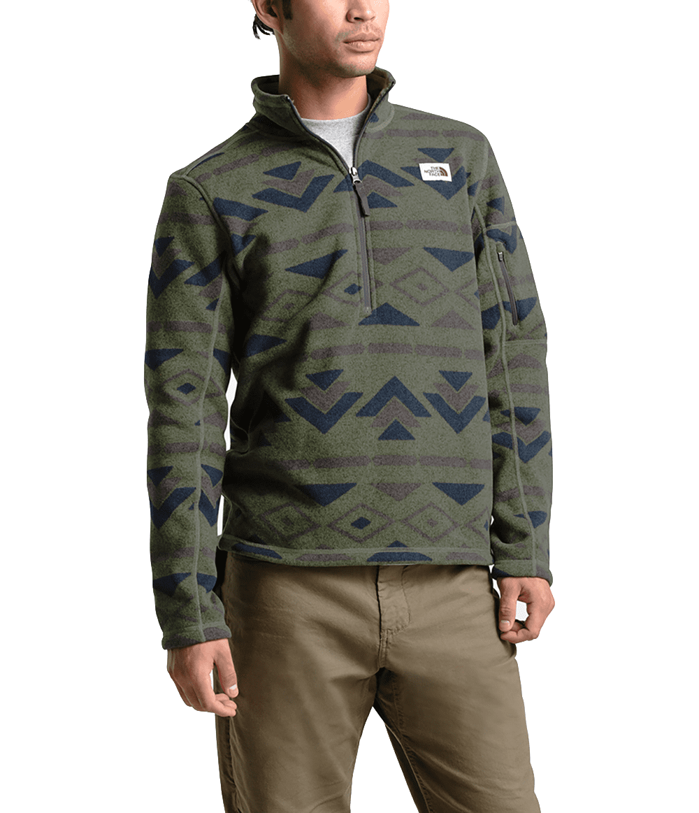size 7 finest selection good selling The North Face Mens Gordon Lyons Novelty 1/4 Zip Four Leaf Clover  California Geo Stripe Print