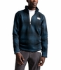 The North Face Mens Gordon Lyons Novelty 1/4 Zip Shady Blue Ombre Plaid Small Print