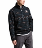 The North Face Mens Gordon Lyons Novelty 1/4 Zip TNF Black California Geo Stripe Print