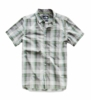 The North Face Mens Hammetts Short Sleeve Shirt High Rise Grey Mylo Plaid   (close out)