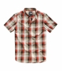 The North Face Mens Hammetts Short Sleeve Shirt TNF Black Ash Plaid  (close out)