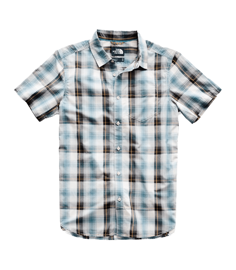177bf6d93 The North Face Mens Hammetts Short Sleeve Shirt Vintage White Ash Plaid  (close out)