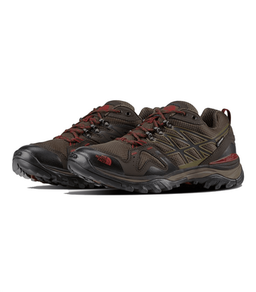 The North Face Mens Hedgehog Fastpack GTX Shoe Coffee Brown/ Rosewood Red