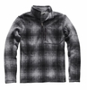 The North Face Mens Novelty Gordon Lyons 1/4 Zip Monument Grey Ombre Plaid Print (Close Out)