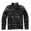 The North Face Mens Novelty Gordon Lyons 1/4 Zip TNF Black Triangle Stripe Print