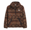 The North Face Mens Printed Campshire Pullover Hoodie Pinecone Brown Kilim Geo 3 Color Print