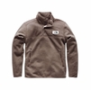 The North Face Mens Sherpa Patrol 1/4 Snap Pullover Falcon Brown Heather