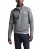 The North Face Mens Sherpa Patrol 1/4 Snap Pullover TNF Medium Grey Heather/Peyote Beige