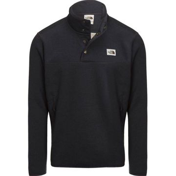 The North Face Mens Sherpa Patrol 1/4 Snap Pullover Weathered Black Heather/Peyote Beige (Close Out)
