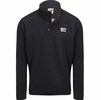 The North Face Mens Sherpa Patrol 1/4 Snap Pullover Weathered Black Heather/Peyote Beige
