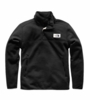 The North Face Mens Sherpa Patrol 1/4 Zip Snap Pullover Weathered Black Heather (Close Out)