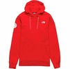 The North Face Mens Tekno Logo Hoodie Antarctica Edition Fiery Red