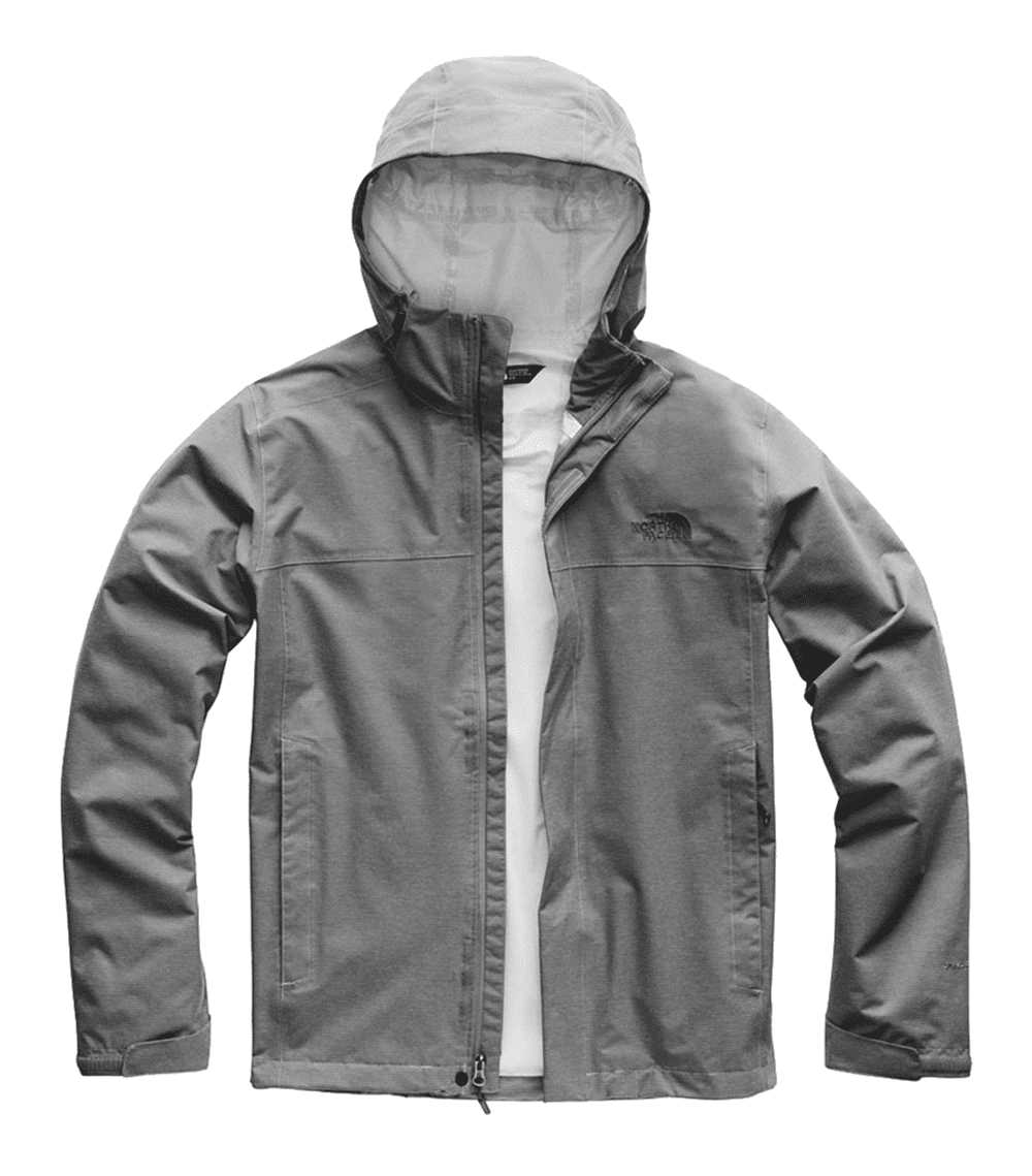 1d41909a2 The North Face Mens Venture 2 Jacket Mid Grey Ripstop Heather/ Asphalt Grey  (Close Out)