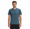 The North Face Mens Wander Short Sleeve Monterey Blue Heather