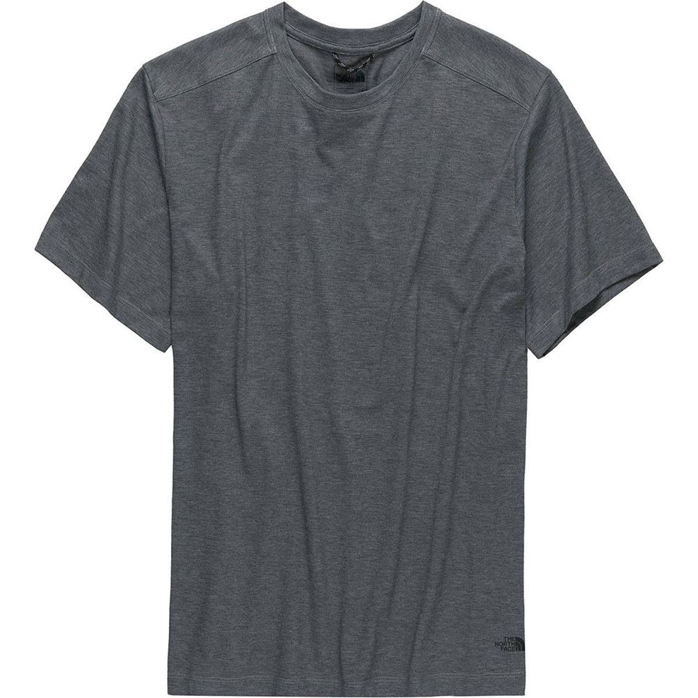 1659bfa12a922 The North Face Mens Watkins Crew Neck Short Sleeve TNF Medium Grey Heather