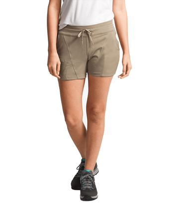"The North Face Womens Aphrodite 2.0 4"" Inseam Short Dune Beige  (close out)"