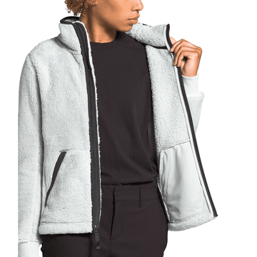 The North Face Womens Campshire Full Zip Jacket Tin Grey/ Asphalt Grey (Close Out)