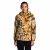 The North Face Womens Campshire Pullover Hoodie 2.0 Hawthrone Khaki Abstract Ikat Flc Print (Close Out)