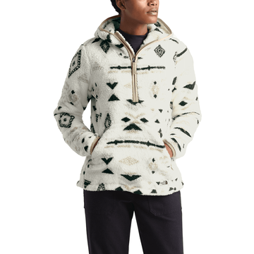 The North Face Womens Campshire Pullover Hoodie 2.0 Vintage White California Geo Print (Close Out)