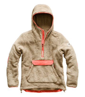 The North Face Womens Campshire Pullover Hoodie Dune Beige/ Spiced Coral   (close out)