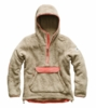 The North Face Womens Campshire Pullover Hoodie Dune Beige/ Spiced Coral
