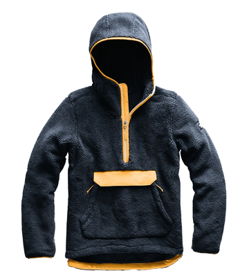 The North Face Womens Campshire Pullover Hoodie Urban Navy/ Citrine Yellow  (close out)