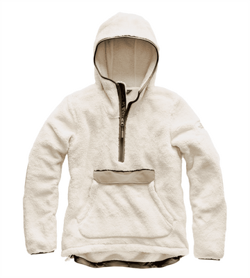 The North Face Womens Campshire Pullover Hoodie Vintage White/ Silt Grey   (close out)