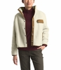 The North Face Womens Cragmont Fleece Jacket Vintage White/ Cedar Brown