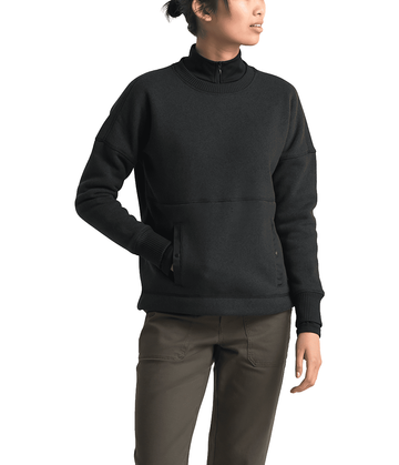 The North Face Womens Crescent Sweater TNF Black Heather (Close Out)