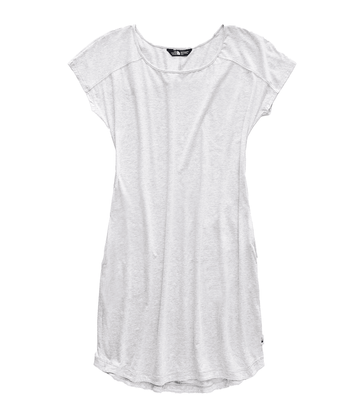 The North Face Womens Loasis Tee Dress TNF Light Grey Heather  (close out)