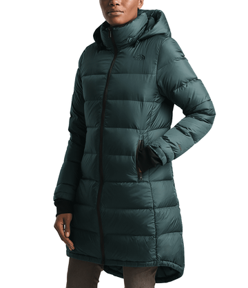 The North Face Womens Metropolis Parka III Ponderosa Green (Close Out)