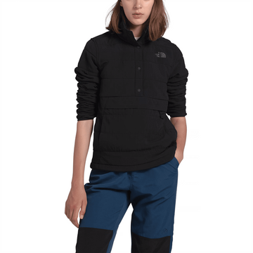 The North Face Womens Mountain Sweatshirt Pullover Anorak 3.0 TNF Black (Close Out)