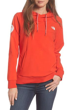 The North Face Womens Tekno Fresh Hoodie Antarctica Edition Fiery Red