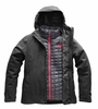 The North Face Womens Thermoball Triclimate Jacket Dark Grey Heather