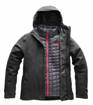 Heather Thermoball Jacket Dark The North Triclimate Face Womens Grey 5A4RjL3