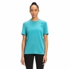 The North Face Womens Wander Short Sleeve Shirt Maui Blue Heather