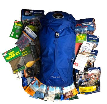 Emergency Survival Backpack Food Essentials 9 Servings and Sleeping Bag