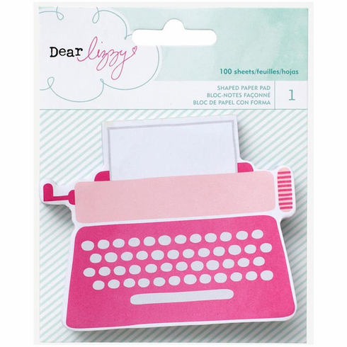 American Crafts Dear Lizzy Fine & Dandy Typewriter Note Paper Pad - S/O