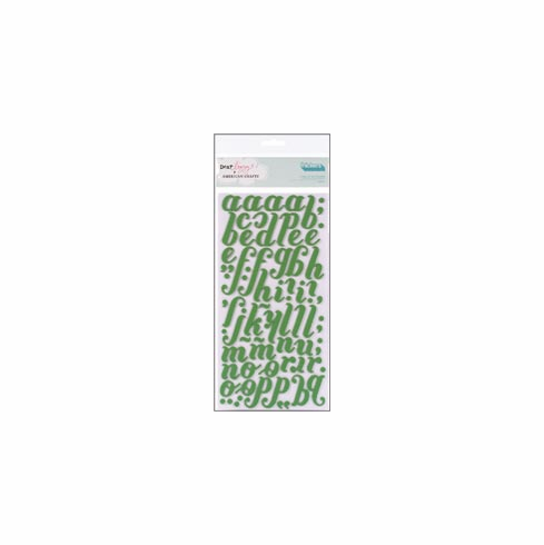 American Crafts: Dear Lizzy - Merry Spinach Foam Thickers Stickers- S/O