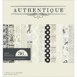 Authentique Paper - Peaceful - Paper Pad 6x6 (S/O)