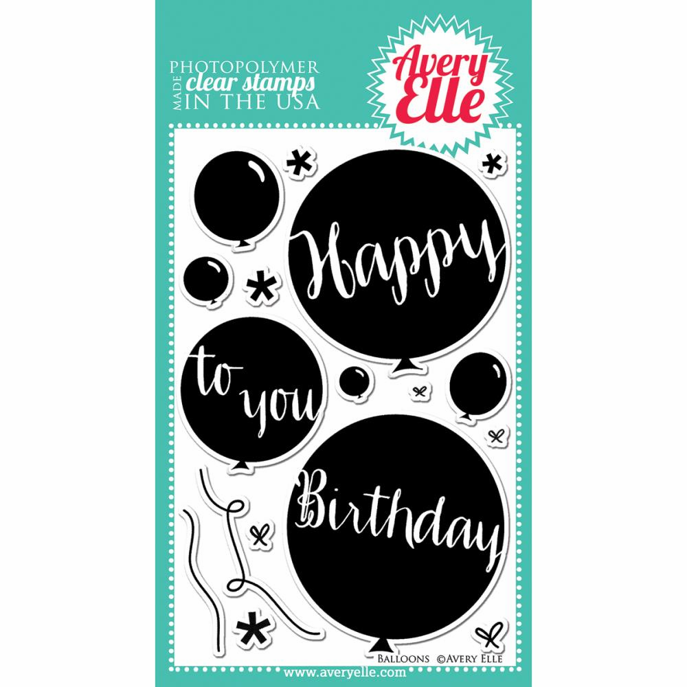 Avery Elle Balloons Clear Stamp Set (E)