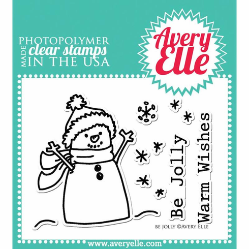 Avery Elle Be Jolly Clear Stamp Set - S/O